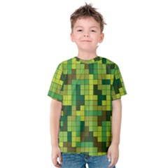 Tetris Camouflage Forest Kids  Cotton Tee