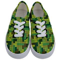 Tetris Camouflage Forest Kids  Classic Low Top Sneakers