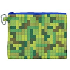 Tetris Camouflage Forest Canvas Cosmetic Bag (xxl) by jumpercat