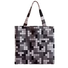 Tetris Camouflage Urban Zipper Grocery Tote Bag by jumpercat