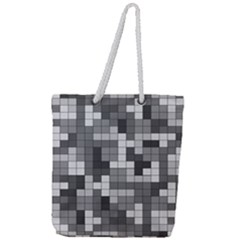 Tetris Camouflage Urban Full Print Rope Handle Tote (large) by jumpercat