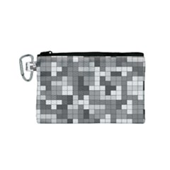 Tetris Camouflage Urban Canvas Cosmetic Bag (small)