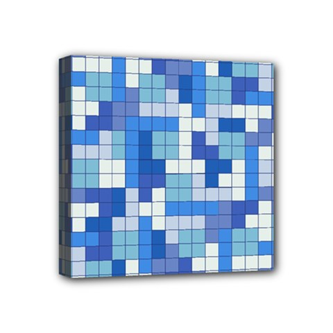 Tetris Camouflage Marine Mini Canvas 4  X 4  by jumpercat