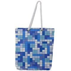 Tetris Camouflage Marine Full Print Rope Handle Tote (large) by jumpercat