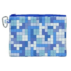 Tetris Camouflage Marine Canvas Cosmetic Bag (xl) by jumpercat