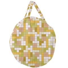 Tetris Camouflage Desert Giant Round Zipper Tote by jumpercat