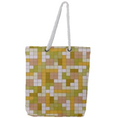 Tetris Camouflage Desert Full Print Rope Handle Tote (large) by jumpercat