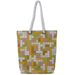 Tetris Camouflage Desert Full Print Rope Handle Tote (small) by jumpercat