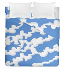Cloud Lines Duvet Cover Double Side (queen Size) by jumpercat