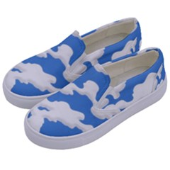 Cloud Lines Kids  Canvas Slip Ons by jumpercat