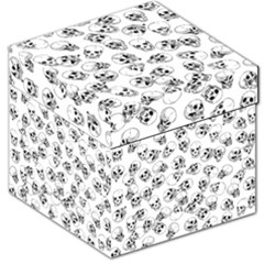 A Lot Of Skulls White Storage Stool 12   by jumpercat