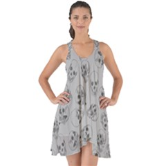 A Lot Of Skulls Grey Show Some Back Chiffon Dress