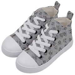 A Lot Of Skulls Grey Kid s Mid Top Canvas Sneakers by jumpercat