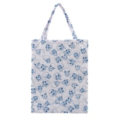 A Lot Of Skulls Blue Classic Tote Bag