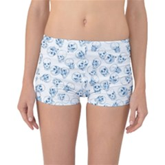 A Lot Of Skulls Blue Reversible Boyleg Bikini Bottoms by jumpercat