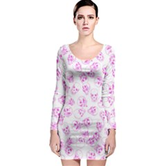 A Lot Of Skulls Pink Long Sleeve Bodycon Dress by jumpercat