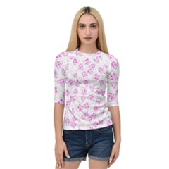A Lot Of Skulls Pink Quarter Sleeve Raglan Tee by jumpercat