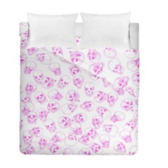 A Lot Of Skulls Pink Duvet Cover Double Side (full/ Double Size) by jumpercat