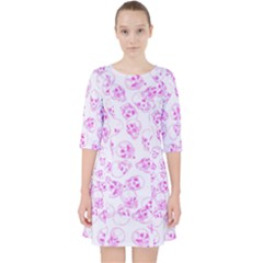 A Lot Of Skulls Pink Pocket Dress
