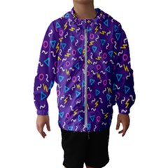 Retro Wave 1 Hooded Wind Breaker (kids) by jumpercat