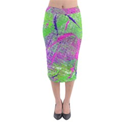 Ink Splash 03 Midi Pencil Skirt