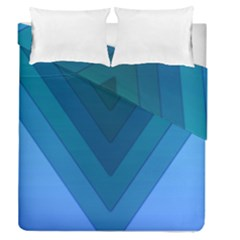 Tri 04 Duvet Cover Double Side (queen Size) by jumpercat