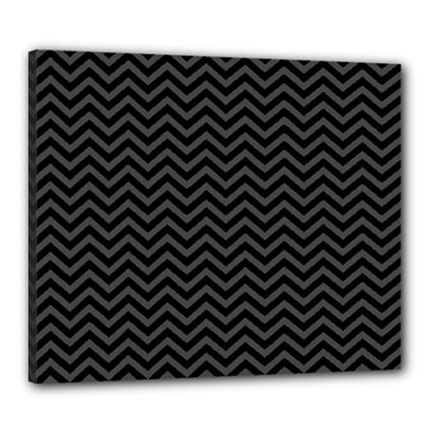 Dark Chevron Canvas 24  X 20  by jumpercat
