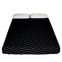 Dark Chevron Fitted Sheet (queen Size) by jumpercat