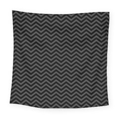 Dark Chevron Square Tapestry (large) by jumpercat
