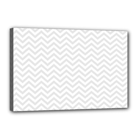 Light Chevron Canvas 18  X 12  by jumpercat