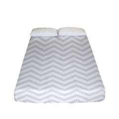 Light Chevron Fitted Sheet (full/ Double Size) by jumpercat