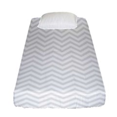 Light Chevron Fitted Sheet (single Size) by jumpercat