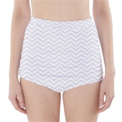 Light Chevron High Waisted Bikini Bottoms by jumpercat
