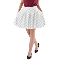Light Chevron A Line Pocket Skirt by jumpercat