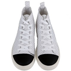 Light Chevron Men s Mid Top Canvas Sneakers