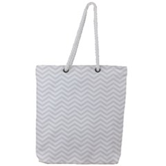 Light Chevron Full Print Rope Handle Tote (large) by jumpercat