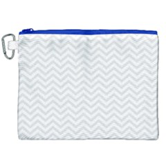 Light Chevron Canvas Cosmetic Bag (xxl) by jumpercat