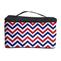 Navy Chevron Cosmetic Storage Case by jumpercat