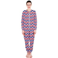 Navy Chevron Onepiece Jumpsuit (ladies)  by jumpercat