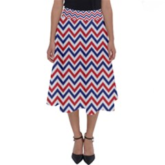 Navy Chevron Perfect Length Midi Skirt by jumpercat