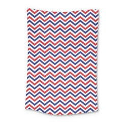 Navy Chevron Small Tapestry by jumpercat