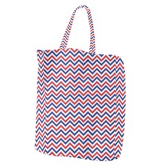 Navy Chevron Giant Grocery Zipper Tote by jumpercat