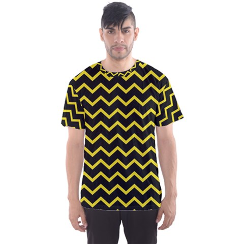 Yellow Chevron Men s Sports Mesh Tee by jumpercat