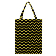 Yellow Chevron Classic Tote Bag by jumpercat