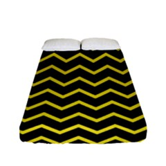 Yellow Chevron Fitted Sheet (full/ Double Size) by jumpercat