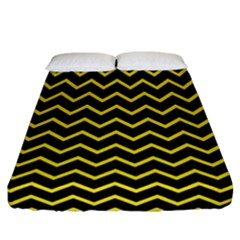 Yellow Chevron Fitted Sheet (california King Size) by jumpercat