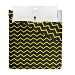Yellow Chevron Duvet Cover Double Side (full/ Double Size) by jumpercat