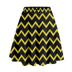 Yellow Chevron High Waist Skirt by jumpercat