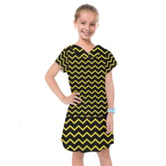 Yellow Chevron Kids  Drop Waist Dress by jumpercat