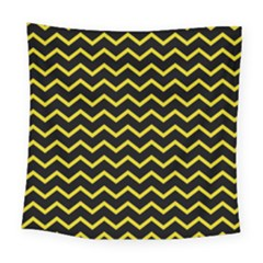 Yellow Chevron Square Tapestry (large) by jumpercat